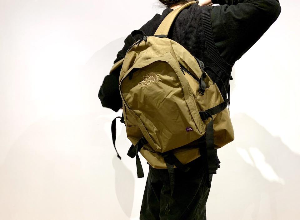 新しい生活のスタートと共にTHE NORTH FACE PURPLE LABEL の定番バッグで。