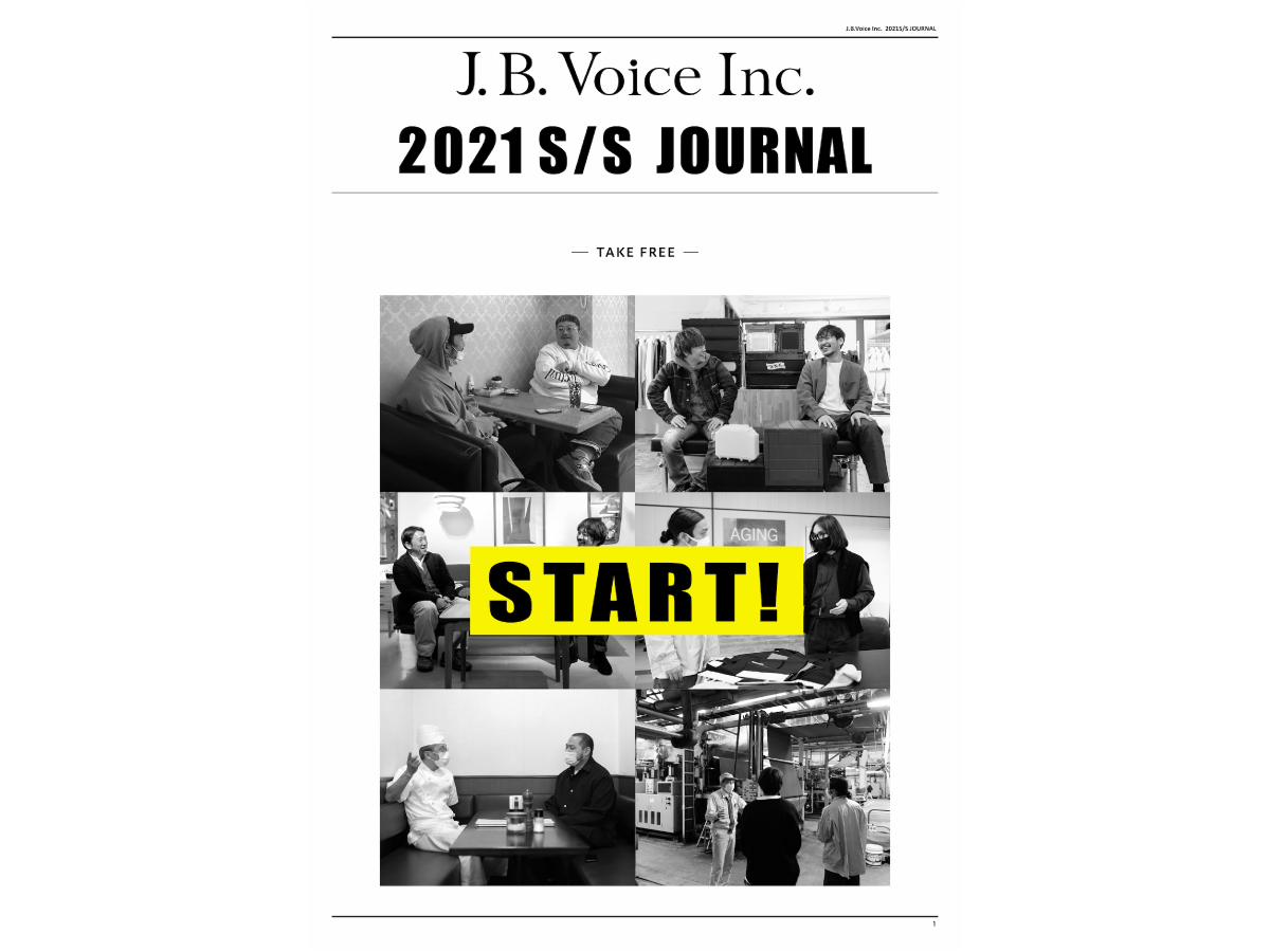 J.B.VOICE Inc. 2021 S/S JOURNAL を無料配布します。