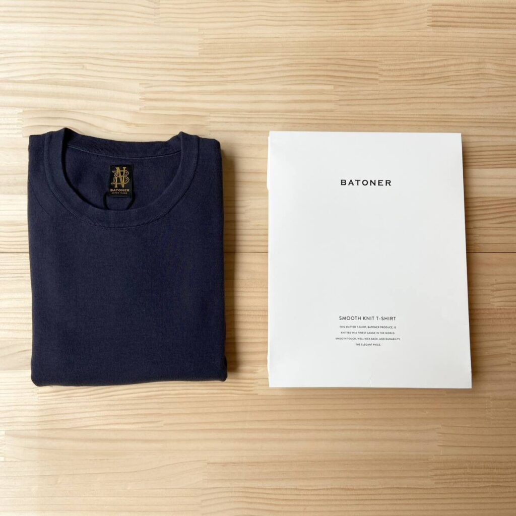 こだわり抜かれたパッケージとニットTシャツ。BATONER