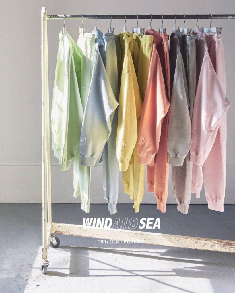 カラーバリエーション豊富な WIND AND SEA の新作が 5 月 22 日(土)に発売します。