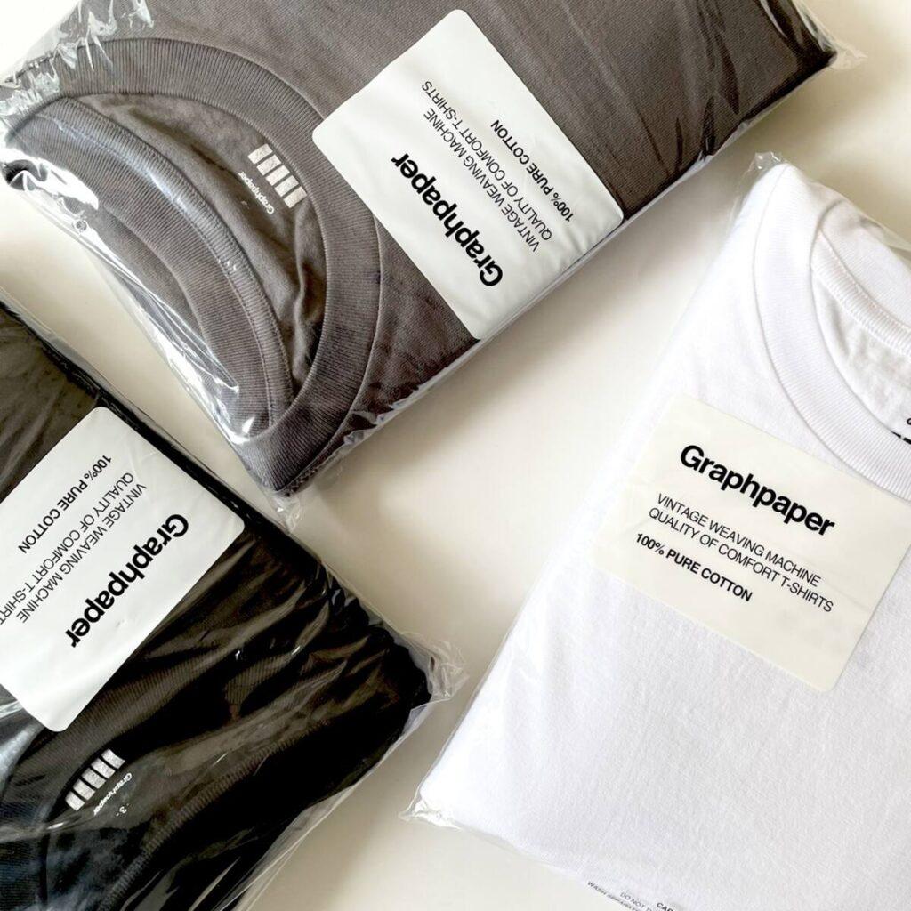 Graphpaper (グラフペーパー) 待望の新型 T シャツ
