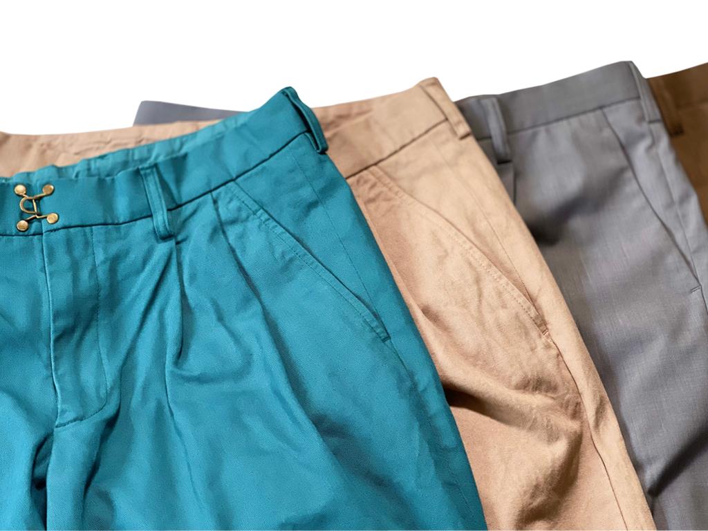kolor(カラー) パンツのサイズ、シルエットの比較