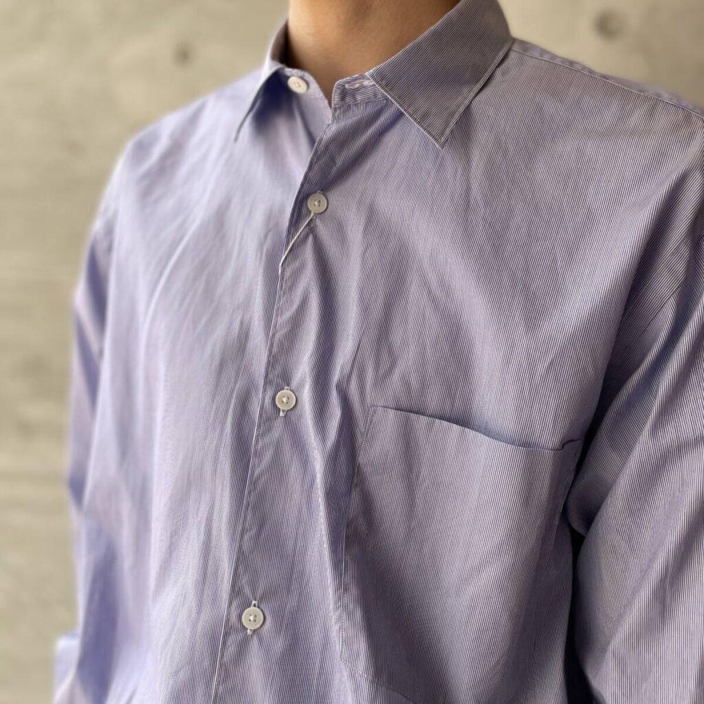 COMOLI ポプリンシャツ、ヨリ杢ワークシャツ、5P デニムパンツ を紹介します。