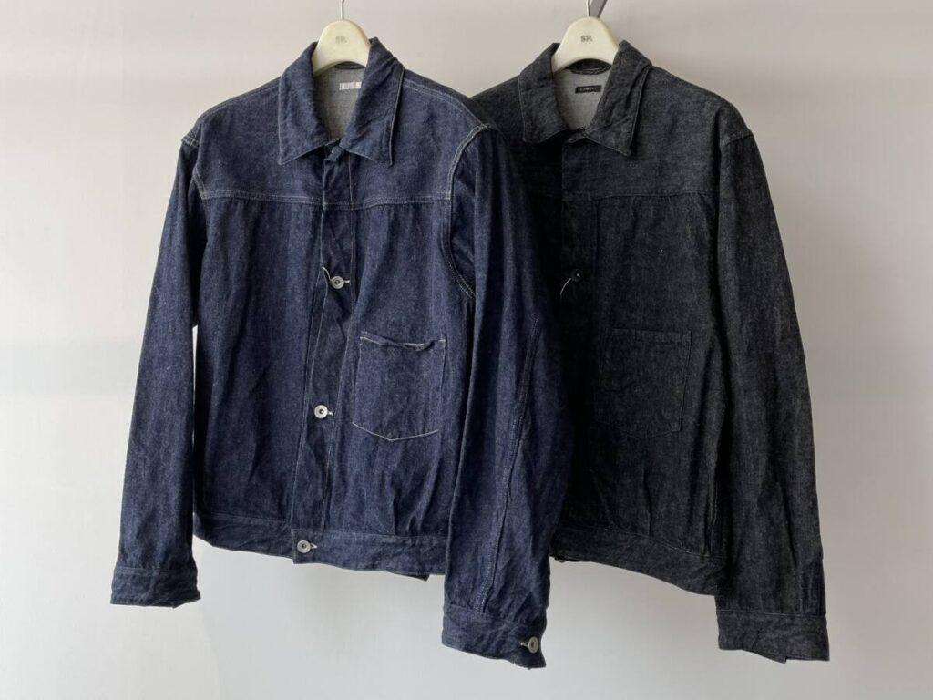 COMOLI(コモリ)デニムジャケットのサイズ比較。