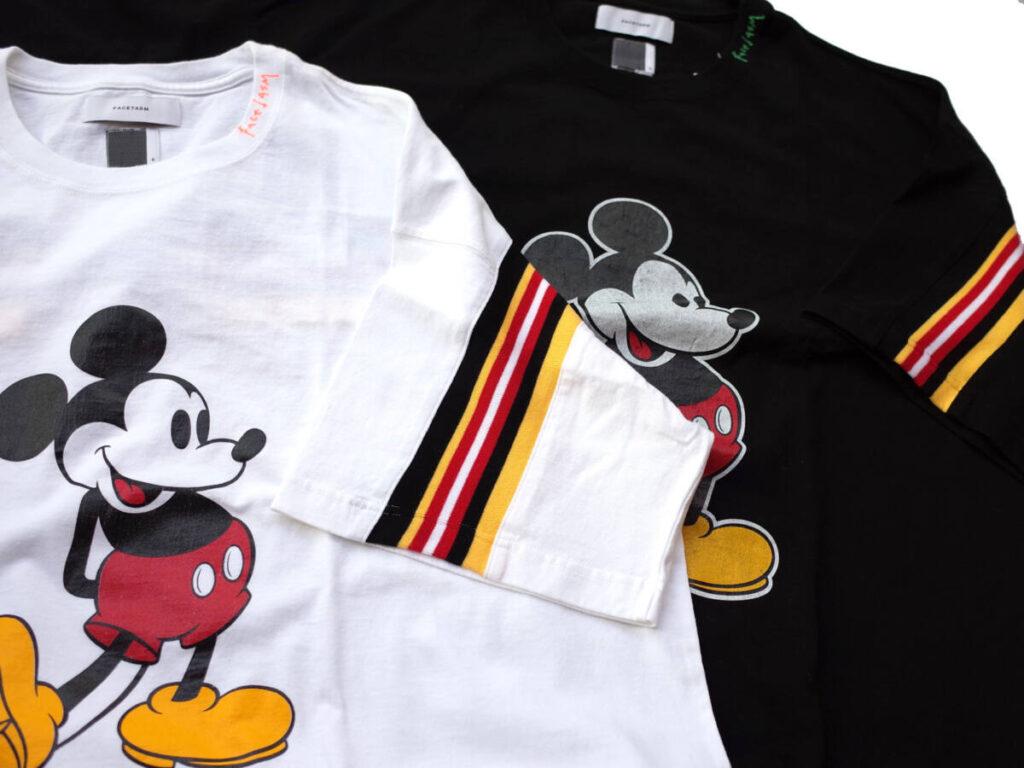 """ミッキーマウスのプリントとリブデザイン。FACETASM """"Disney Capsule Collection"""""""